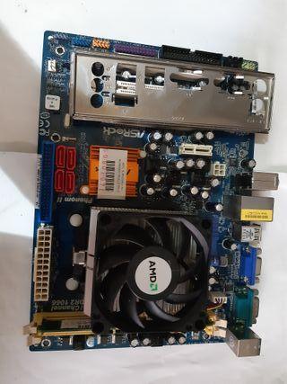 placa base n68-s,memoria,prosesador y disipador