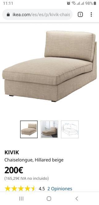 Chaiselongue Sofa Kivik Seminuevo