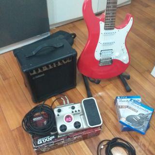 Guitarra eléctrica Yamaha 112 pack completo