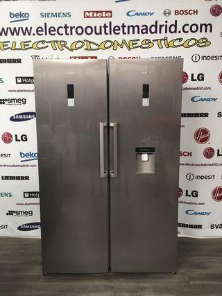 Frigorifico y congelador 1 puerta pareja