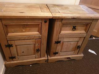 bedisde cabinets x2