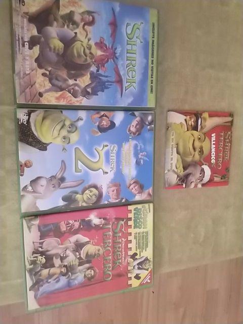 Shrek 4 películas + 3D + Villancicos + Cortos DVD
