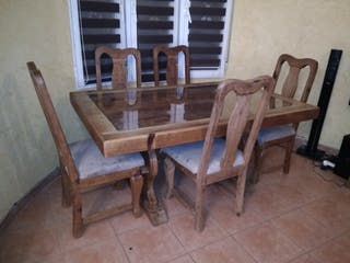 Mesa y sillas Rústicas Mexicanas