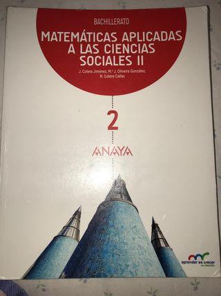 libro Matemáticas CCSS 2°Bachillerato ANAYA