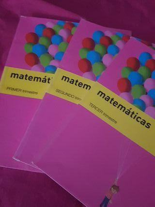 LIBROS 4 PRIMARIA DE 1, 2 Y 3 TRIMESTRE DE MATES