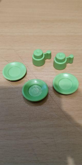 Playmobil OTR2 Platos y tazas Verdes