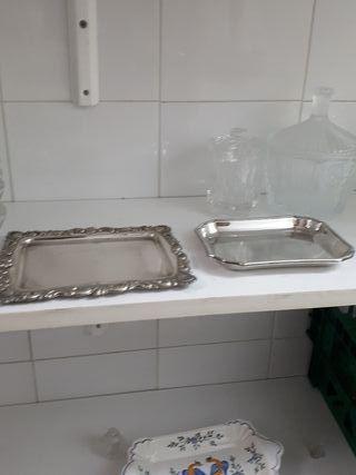 Set 2 bandejas de plata
