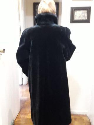 Abrigo largo piel Sintetico