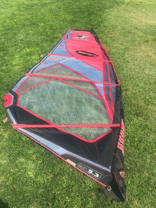 Velas windsurf olas 5,3 m2 y 4,7 m2