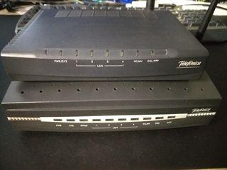 2 routers inhalámbricos y tarjeta de red PCI