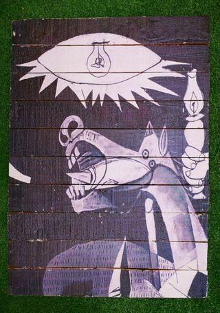 Detalle Guernica (cuadro madera)