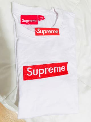 Camiseta Supreme Box Logo white nueva