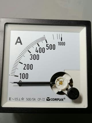 voltimetros y Amperimetros trascuadro