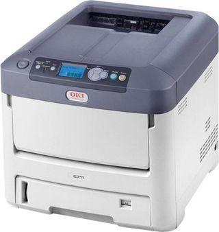impresora láser OKI de tóner blanco