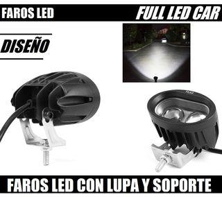 FARO LED REDONDEADO CON SOPORTE 12V 24V