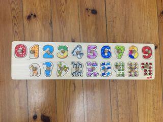 Goki 57827-Aprende a contar puzzle de LOS NÚMEROS