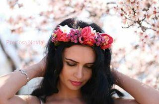Oferta! Diadema de flores tiara corona novia boda
