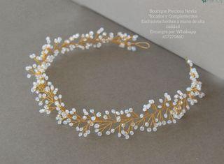 Tiara de novia tocado diadema corona peineta