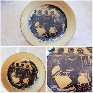 Plato decorativo Mujer Lareira