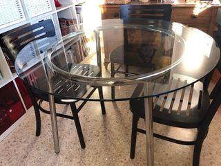 Mesa Comedor Cristal | 105 cm diámetro
