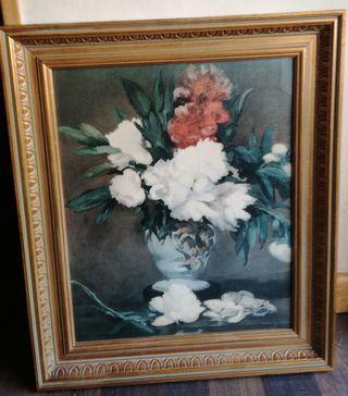 Cuadro de flores antiguo