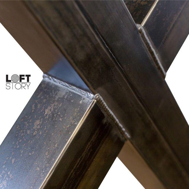 Set 2 Patas Acero Forma X Mesa Loft Industrial DIY