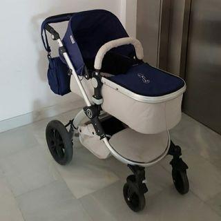 carrito de bebé completo.