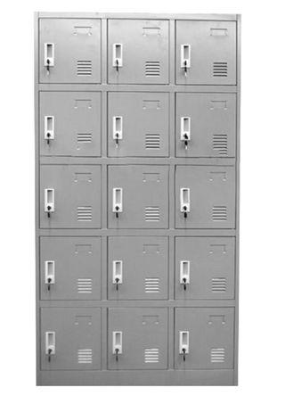 Armario taquilla de metal 15 puertas. Taquillas