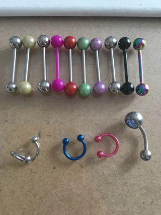 Pack 10 pirsings/piercings de lengua