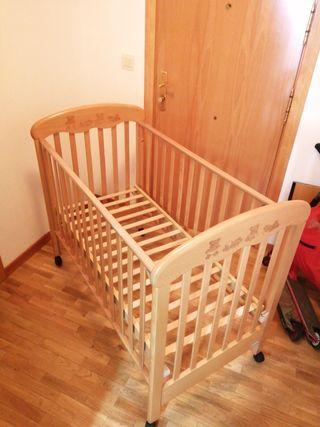 cuna para bebé (colchón a medida incluido)