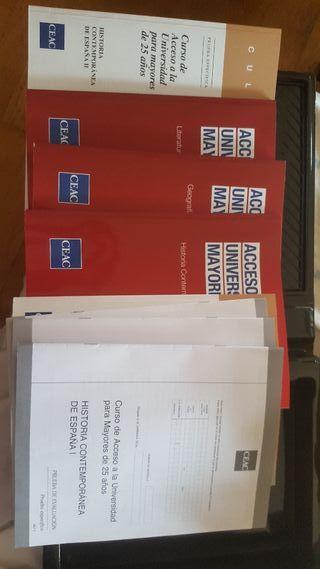 acceso universidad prueba libre + 25