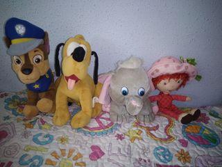 Chase, Pluto, Dumbo y Tarta de Fresa