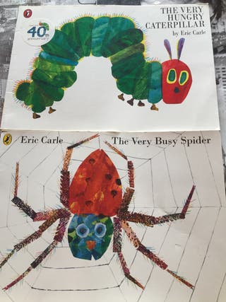 The very hungry caterpillar y The very busy spider
