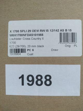 DT SWISS X1700 SPLINE 29