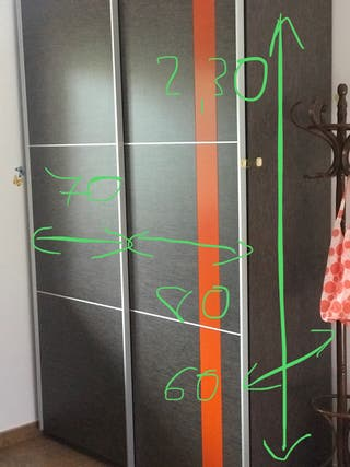 Armario madera puertas correderas
