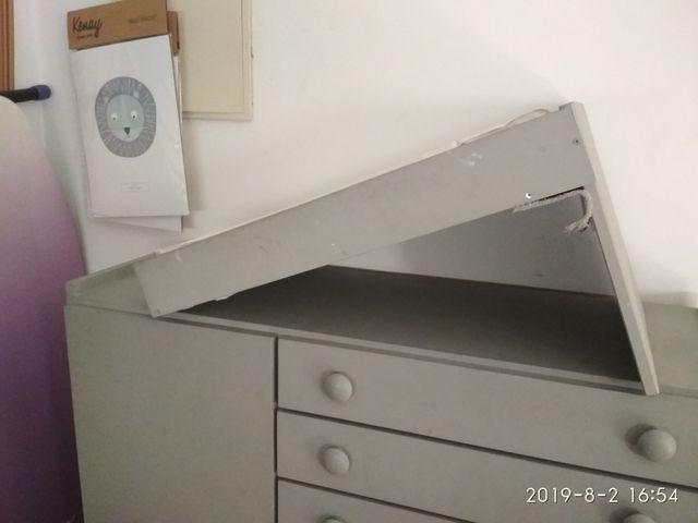 mueble cambiador + cuna