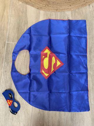 Capa y antifaz de superman disfraz