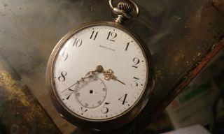 reloj de bolsillo plata con sonería para restaur