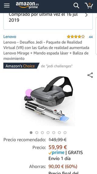 Jedi Challengers Lenovo realidad virtual