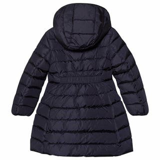 moncler Navy Charpal Longline Puffer Coat