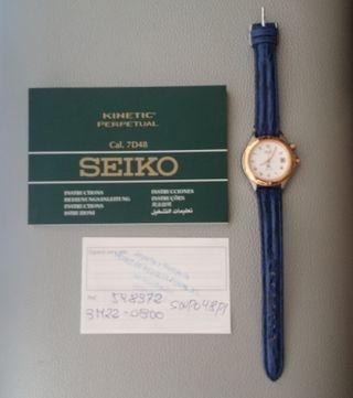 Reloj Sra nuevo Seiko Kinetic perpetual automatico