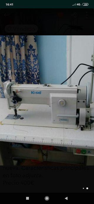 Máquina coser triple