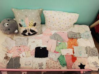 Lote ropa bebé niña invierno t. 46, 50 y 56cm