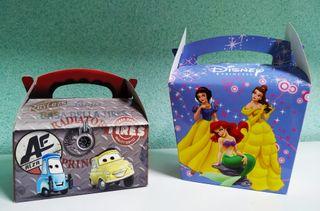 Bolsas y cajas para golosinas de cumpleaños