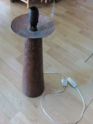 lampara de mesa de cobre