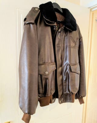 Leather big pocket jacket