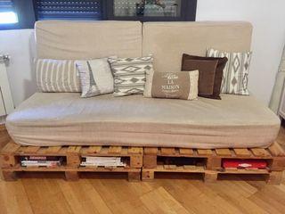 Sofá cama de palets