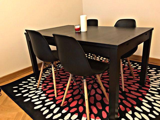 Conjunto comedor mesa+sillas+alfombra