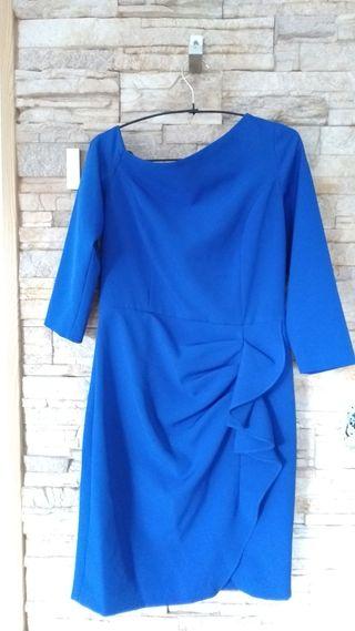 vestido ajustado azul