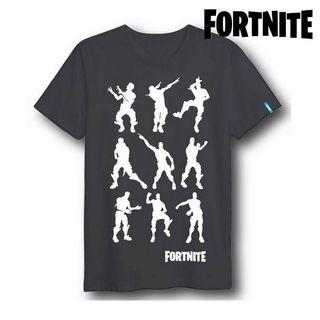 Camiseta de mangas cortas negra Fortnite